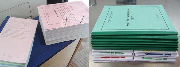 in tài liệu tại công ty Minh Châu 5
