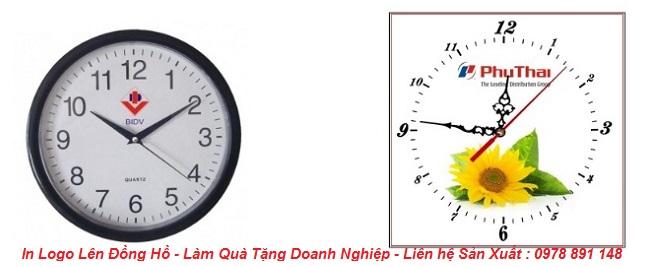 Đồng hồ in logo làm quà tặng khách hàng đẹp và giá rẻ