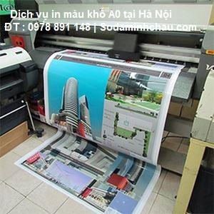 Cơ sở in tài liệu A0 chất lượng đẹp nhất tại Minh Châu