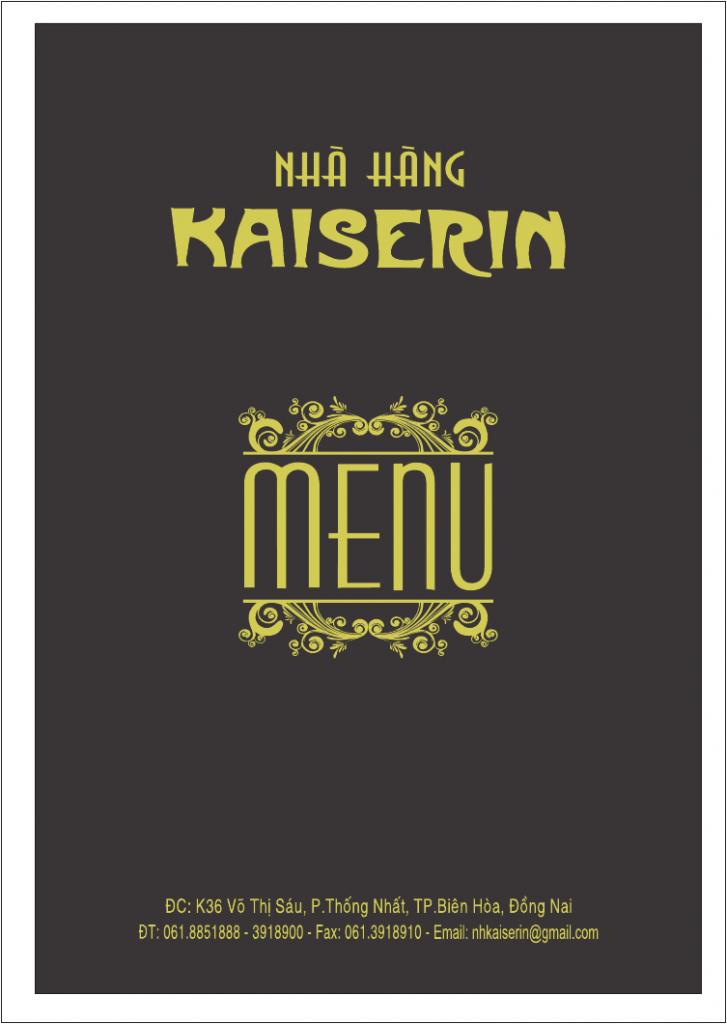 Mẫu bìa menu nhà hàng - Địa chỉ làm menu nhà hàng uy tín