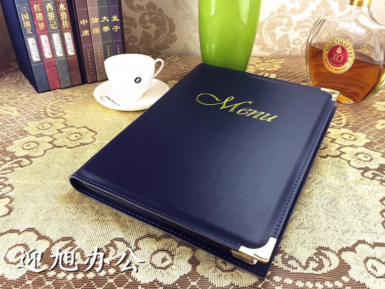 Wood-leather-Restaurant-menu-cover-Acrylic-wine