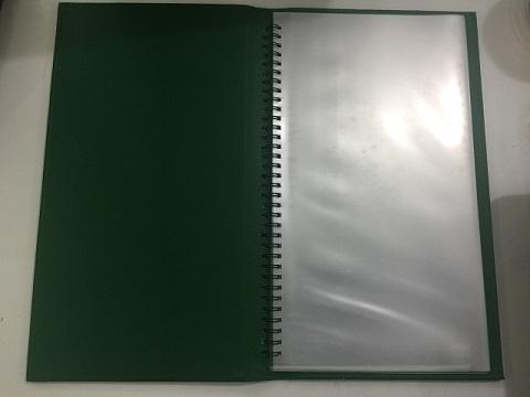 mẫu menu bìa da gáy lò xo minh châu