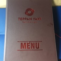 Mẫu báo giá in menu nhà hàng Teppan Yaki