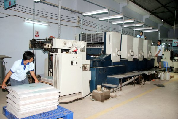 Xưởng in tài liệu tại công ty in ấn Minh Châu