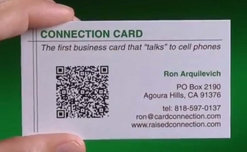 in card visit nhựa trong qr code