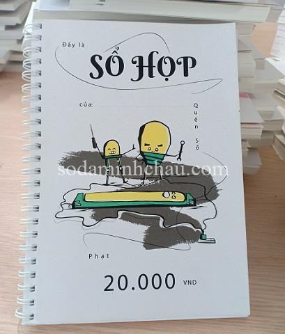 Mẫu in chữ lên sổ tay bìa giấy cứng