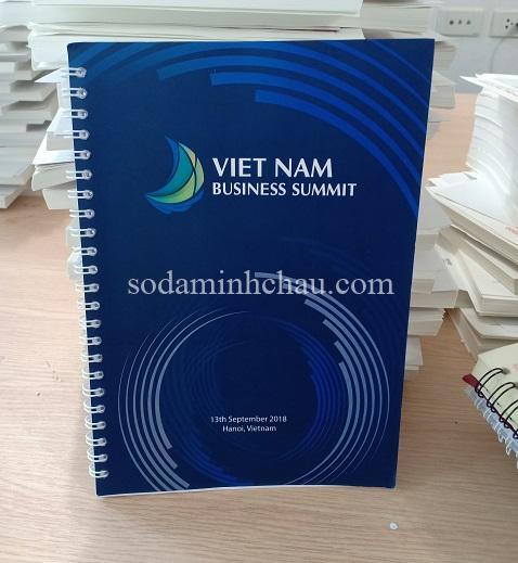 Mẫu in logo lên sổ tay bìa giấy cứng