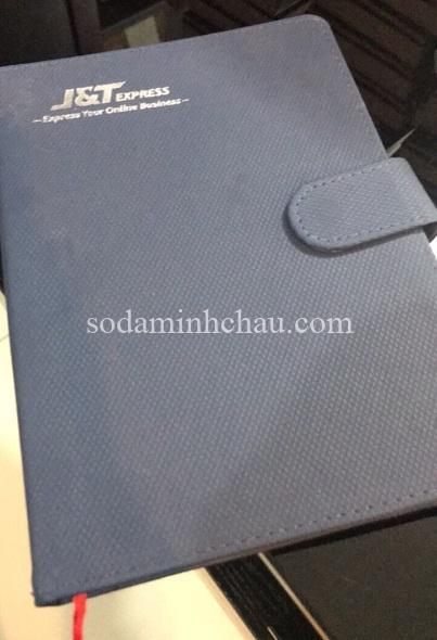 In logo lên sổ tay bìa da