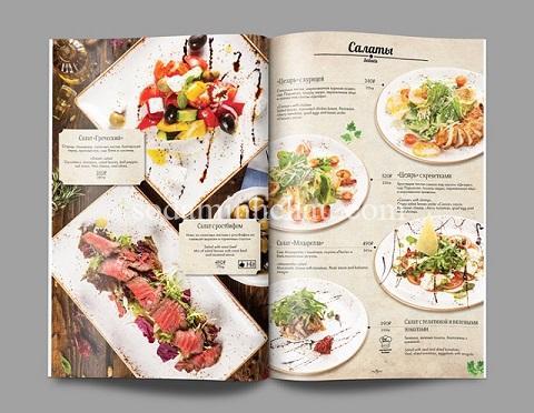 In và thiết kế catalogue giới thiệu nhà hàng