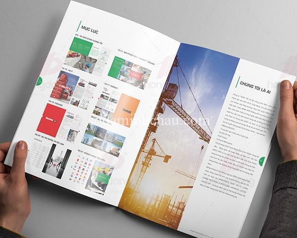 Mẫu in catalogue giới thiệu công ty