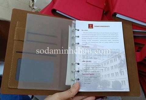 Sản xuất sổ tay bìa còng