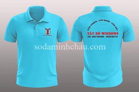 in logo lên sản phẩm - áo thun