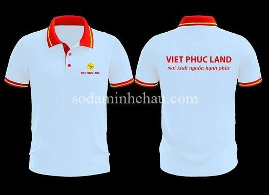 In logo lên áo thun đồng phục Viet Phuc Land