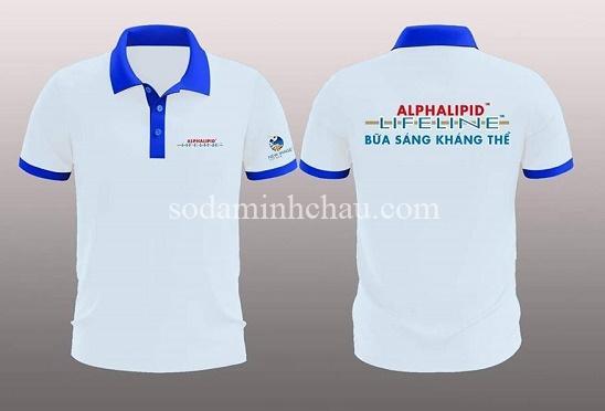 In logo lên áo thun đồng phục AlphaLipid