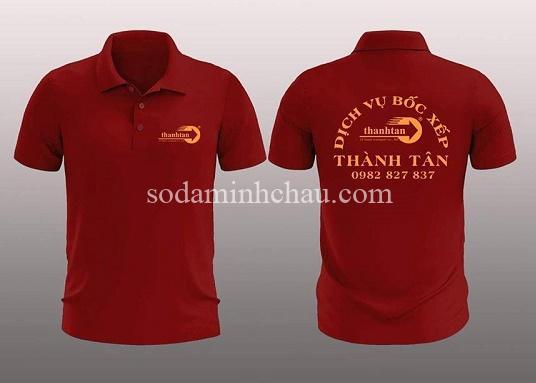 In logo lên áo thun đồng phục dịch vụ bốc xếp