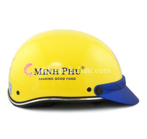 In logo lên sản phẩm - mũ bảo hiểm