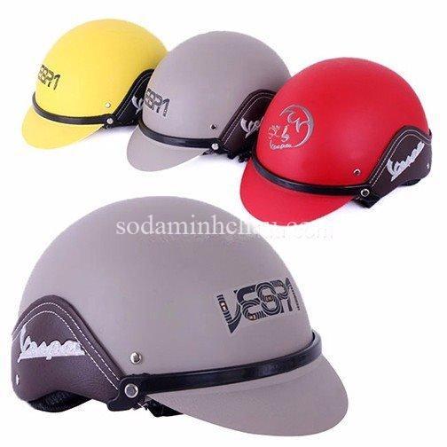 mẫu in logo Vespa lên mũ bảo hiểm