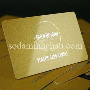 Mẫu in card visit nhựa ép nhũ ánh kim
