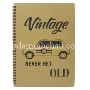 Mẫu sổ lò xo Vintage