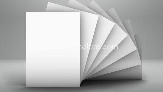 Giấy ivory - các loại giấy in