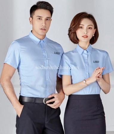 In logo lên sơ mi nam nữ tại Minh Châu
