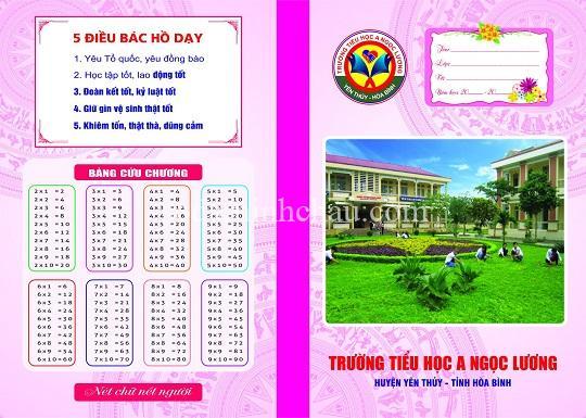 In vở học sinh trường tiểu học tỉnh Thái Bình
