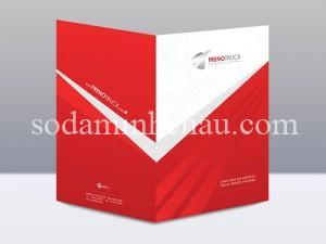 Màu đỏ mạnh mẽ có thiết kế in kẹp file ấn tượng