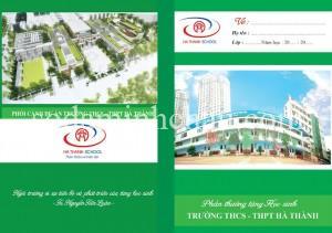 In vở học sinh trường THCS - THPT Hà Thành