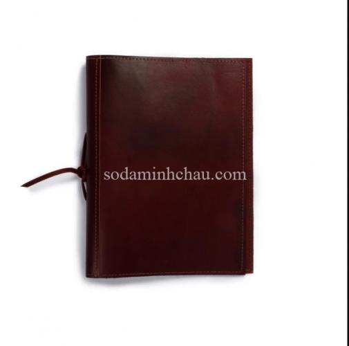 Một mẫu menu bìa da theo phong cách tối giản