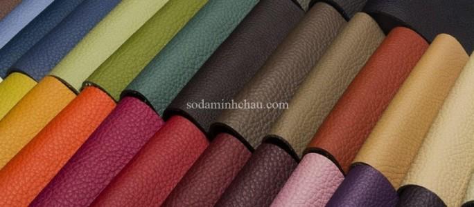 Vải giả da simili có màu sắc đa dạng