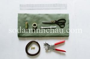 Vật dụng cần thiết để làm túi vải canvas