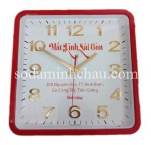 Quà tặng SanGIa VN bằng đồng hồ treo tường đặt in tại Minh Châuv