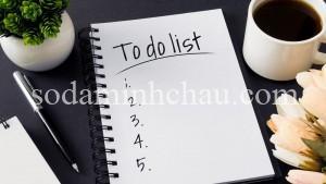To-do-list giúp bạn kiểm soát kế hoạch của bản thân