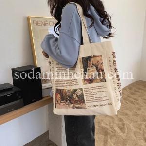 Minh Châu nhận in túi canvas theo yêu cầu của khách hàng