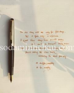 Bút Fountain cách tân rất hợp để in logo làm quà tặng