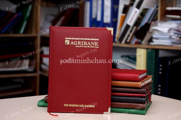 Mẫu sổ da a4 ngân hàng Agribank đặt tại Minh Châu